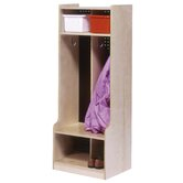 Two Section Locker with Seat/Step
