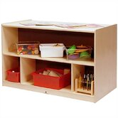 Toddler-Sized Double-Sided Storage Cabinet