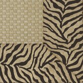 Jute Basketweave Brown Tiger Bordered Rug