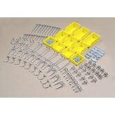 DuraHook 95 Pc Zinc Plated Steel Hook & Bin Assortment for DuraBoard (85 Asst Hooks & 10 Asst Bins)