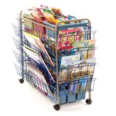 Deluxe Book Browser Cart with Book Display Rack and Eco Tub