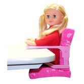 "Clip On Table Chair and 18"" On The Go Girl Fashion Doll Combo"