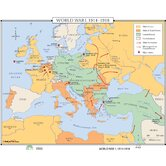 World History Wall Maps - World War I 1914-1918