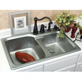 Optimum Matunuck 60/40 Double Bowl Self Rimming Kitchen Sink