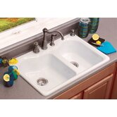 Advantage Warwick Double Bowl Contoured Self Rimming Kitchen Sink