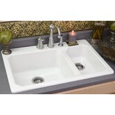 Advantage Cranston Double Bowl Hi-Lo Sink