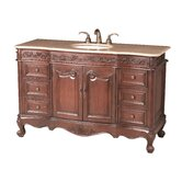 Princeton 56&quot; Bathroom Vanity with Marble Top
