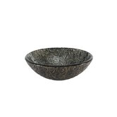 Reflex Vessel Sink in Metallic Grey Vine