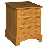 Clitheroe 3 Drawer Bedside Table