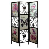Rose and Butterfly Glass Screen