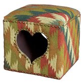 Durry Cut Out Heart Pouffe