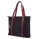 "15.4"" Select Tote in Black / Burgundy"