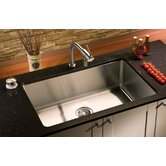 Classic 31&quot; x 19.5&quot; Undermount Stainless Steel Single Bowl Kitchen Sink