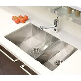 "UrbanEdge 7.75"" x 14.75"" Undermount Stainless Steel Double Bowl Kitchen Sink"