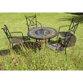 Durango Fire Pit Table and Treviso Chair Collection
