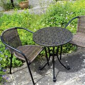 Summer Terrace 3 Piece Fleuretta Dining Set