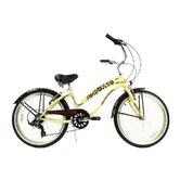 "Ladies 24"" Seven Speed Beach Cruiser Bike"