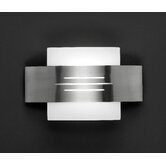 Vetro Decorative Wall Light in Nickel