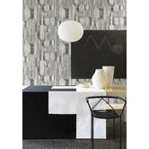 Frekvenssi Wallpaper in White and Black by Harri Koskinen