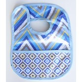 Ikat Chevron Coated Bib
