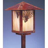 "Evergreen 9"" Outdoor Post Lantern with Filigree"