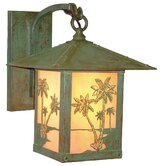Timber Ridge Outdoor Wall Lantern with Palm Tree Filigree
