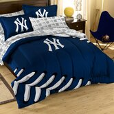 MLB New York Yankees Full Embroidered Comforter Set