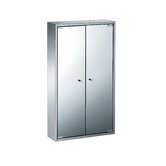 "Linea 18.3"" x 31.5"" Pika Bathroom Storage Cabinet in Stainless Steel"