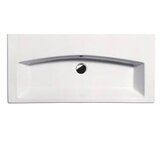 GSI 35.4&quot; x 16.5&quot; Losagna Flat 90 Bathroom Sink in White