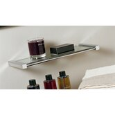 "Metric 7.08"" x 3.8"" Shelf in Polished Chrome"