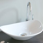 Ceramica 20.9&quot; x 15.4&quot; Vessel Sink in White