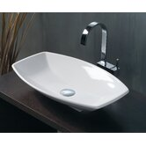 Ceramica 23.6&quot; x 15&quot; Vessel Sink in White