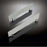 Baketo 19.5&quot; Frosted Glass Shelf in Polished Chrome