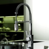 Domino &quot;Professional&quot; One Handle Single Hole Bar Faucet with Two-Spray Hand Shower