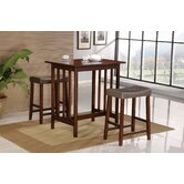3 Piece Bar Table Set in Spice