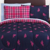Printed Bed-in-Bag Plaid Reversible Comforter Set