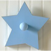 Blue Hand Painted Star Peg