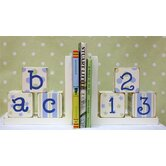 ABC 123 Bookends in Blue / Green