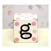 &quot;g&quot; Letter Block in Pink