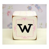 &quot;w&quot; Letter Block in Pink