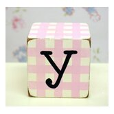 &quot;y&quot; Letter Block in Pink