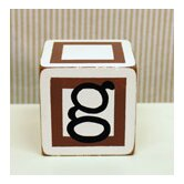 """g"" Letter Block in Chocolate"