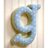 &quot;g&quot; Fabric Letter in Blue / Green