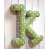 &quot;k&quot; Fabric Letter in Blue / Green