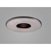 Jewel 3.6&quot; Fixed Wallwash Round Downlight Trim with Black Baffle