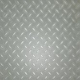 "Metro Design Textured Metallic Tile 18"" Vinyl Tile in Silver"