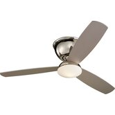 52&quot; Freestyle 3 Blade Semi-Flush Mount Ceiling Fan with Remote