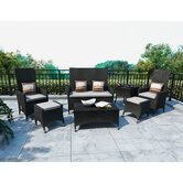 Cascade 7 Piece Lounge Seating Group with Cushions