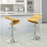 CorLiving Curved Seat Bentwood Adjustable Barstool (Set of 2)