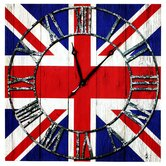 Union Jack Canvas Wall Clock